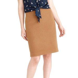 J Crew Petite Pencil Skirt in Double-Serge Wool